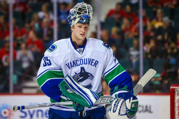 Canucks goalie Thatcher Demko