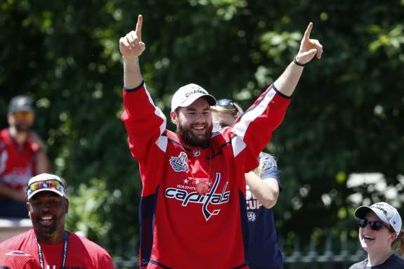 Capitals right wing Tom Wilson