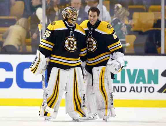 Tuukka Rask and Anton Khudobin