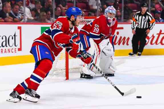 Montreal Canadiens defenseman Victor Mete