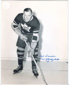 Bob Davidson during his playing days with the Leafs.