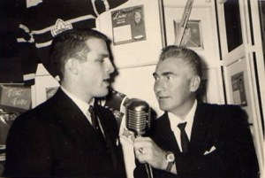 Ed Fitkin, shown here interviewing former Leaf Carl Brewer