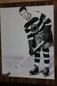 Photo by: Scott Campbell Frank Finnigan was honoured at the Shawville Hockey Wall of Fame in 2012.