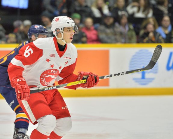 Morgan Frost, OHL, Sault Ste. Marie Greyhounds
