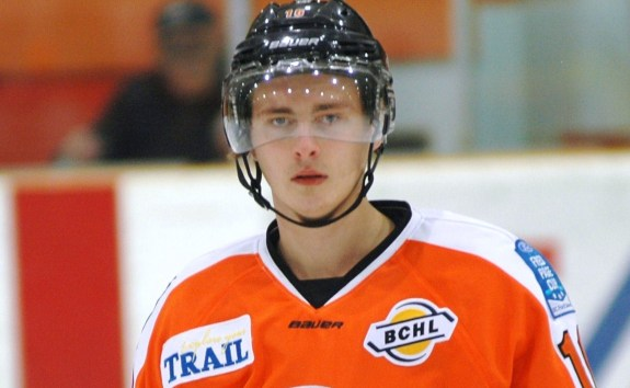 Kale Howarth of the Trail Smoke Eaters