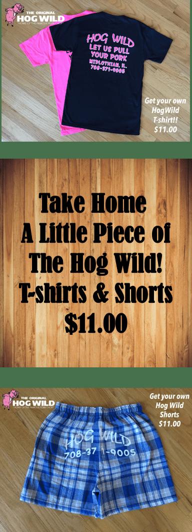 hog wild tshirts shorts