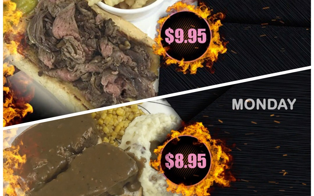 Our Monday Specials