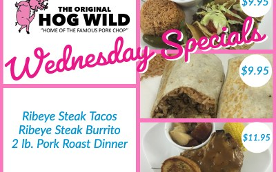 Wednesday, August 8, 2018 Specials