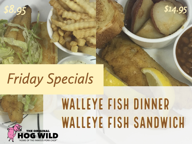 Friday, September 14, 2018 Daily Specials