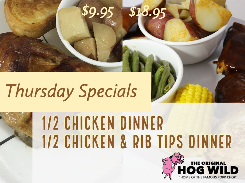 Thursday, September 27, 2018 Daily Specials