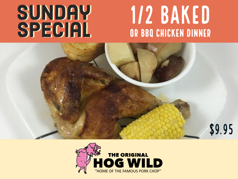 Sunday, November 4, 2018 Daily Specials