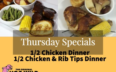Thursday, October 4, 2018 Daily Specials