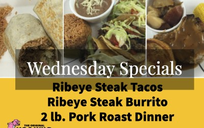 Wednesday, October 3, 2018 Daily Specials