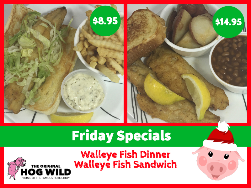 Friday, December 7, 2018 Daily Specials