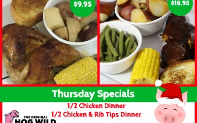 Thursday, December 6, 2018 Daily Specials