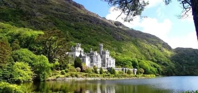 Ireland Kylemore Abbey Castle Nature Landscape Historically