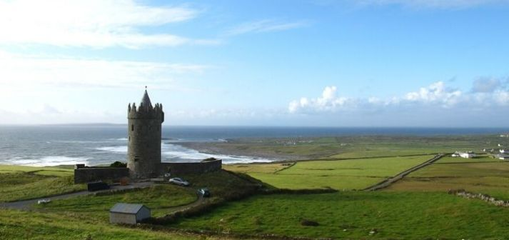 Ireland Castle By The Sea Tower Castle
