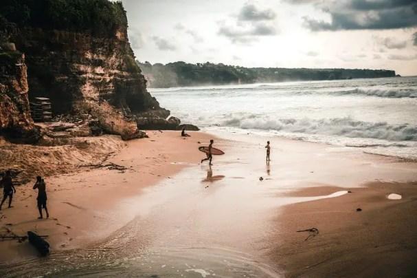 Surfing in Bali rainy season