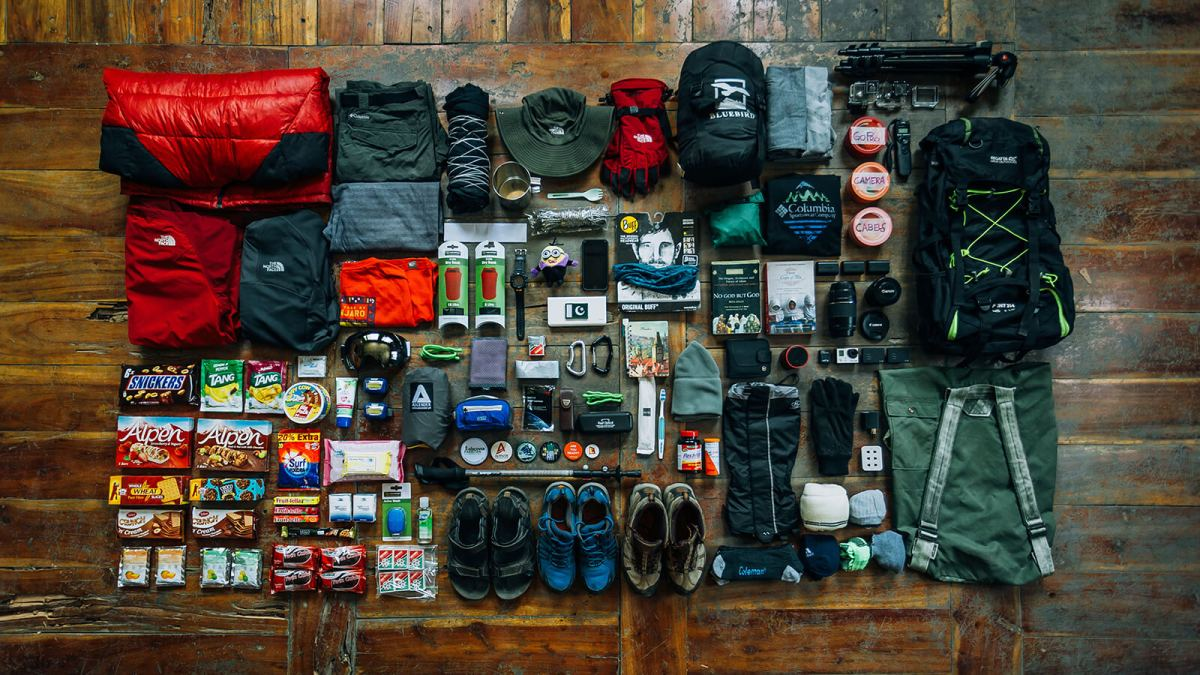 Packing and preparing for a cycling tour