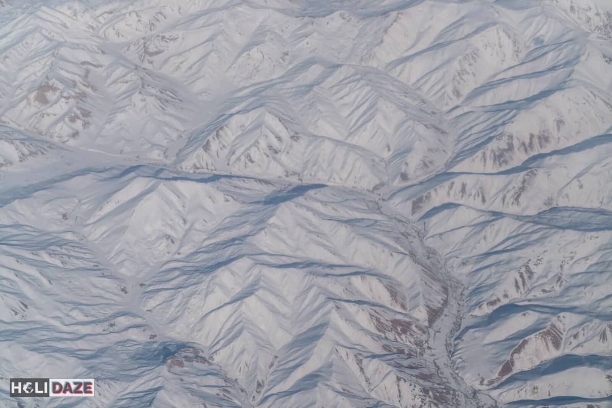 Aerial Afghanistan. So peaceful when seen from above. This is Bamyan province, a completely safe part of the country and amazing winter destination for skiing