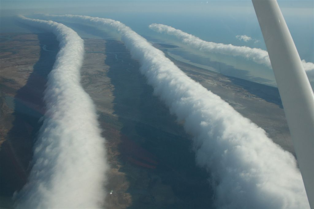 Morning Glory clouds are a unique meteorological phenomenon that can be witnessed in Burketown, Queensland, Australia