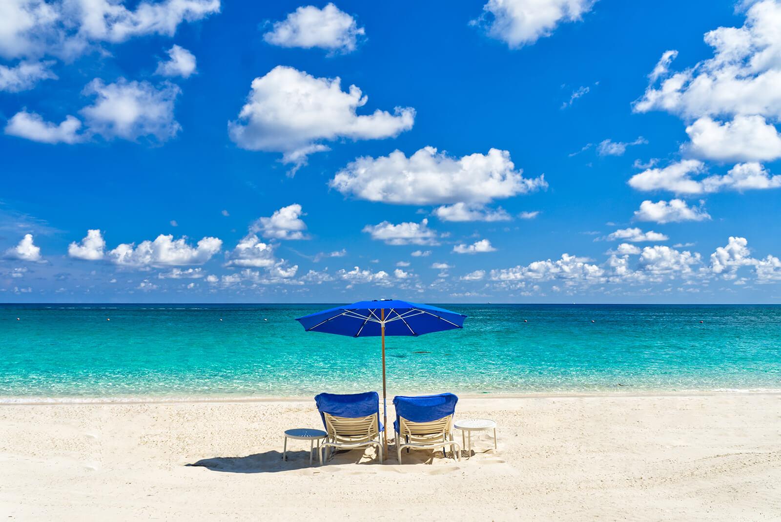Enjoying these picturesque Bahamas beaches