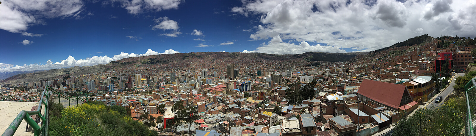 Panoramic shot of La Paz, the capital of Bolivia and highest capital city in the world