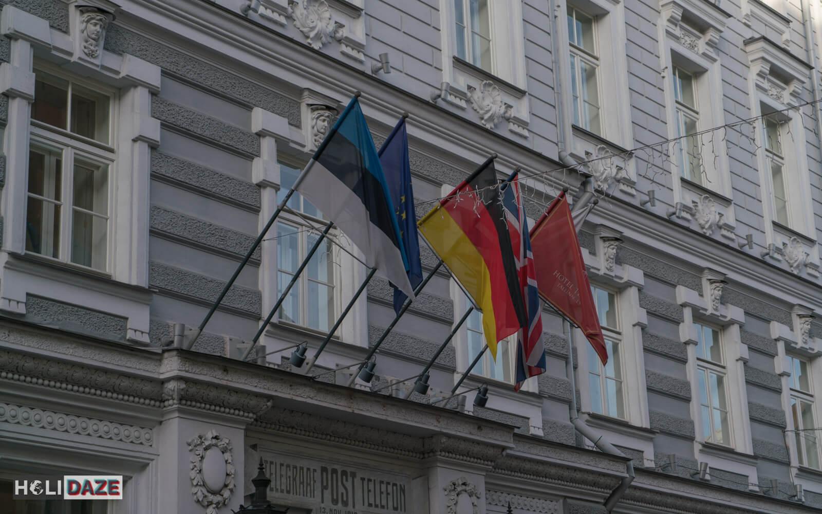 Flags over Estonia