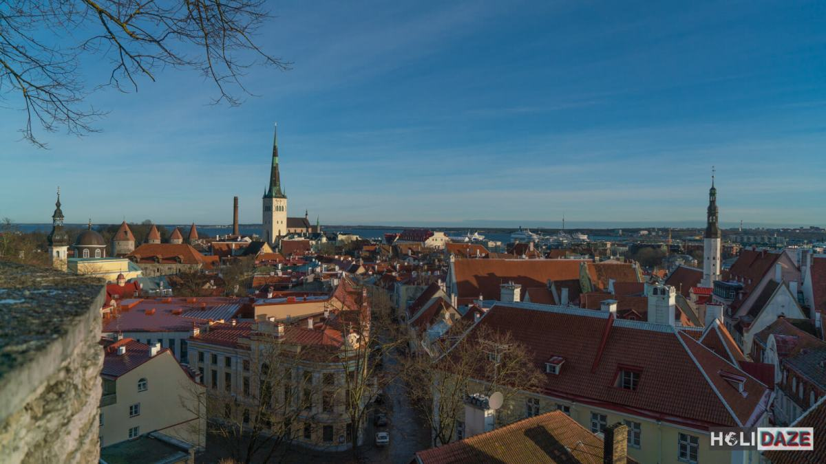 The Tallinn Old Town skyline is breathtaking