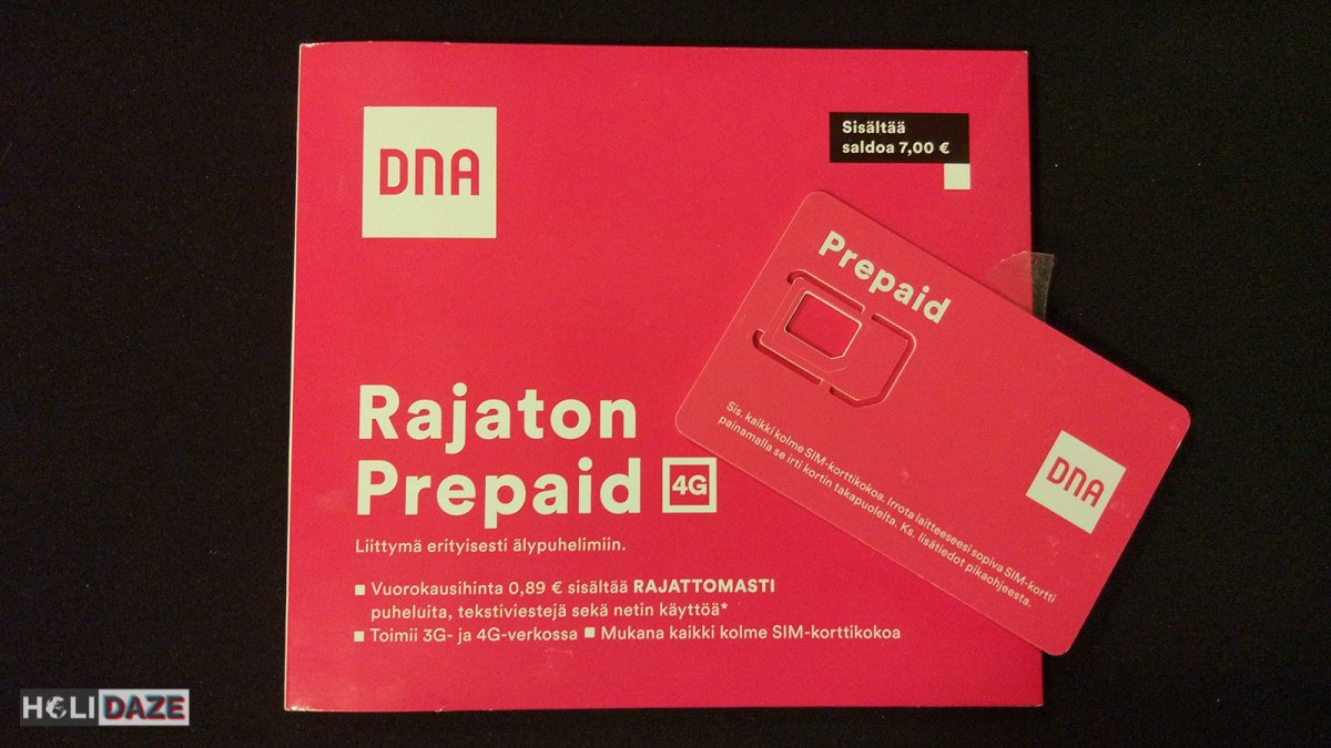Finland travel tip: DNA sim card is the best to get....used it all over the country without any signal issues