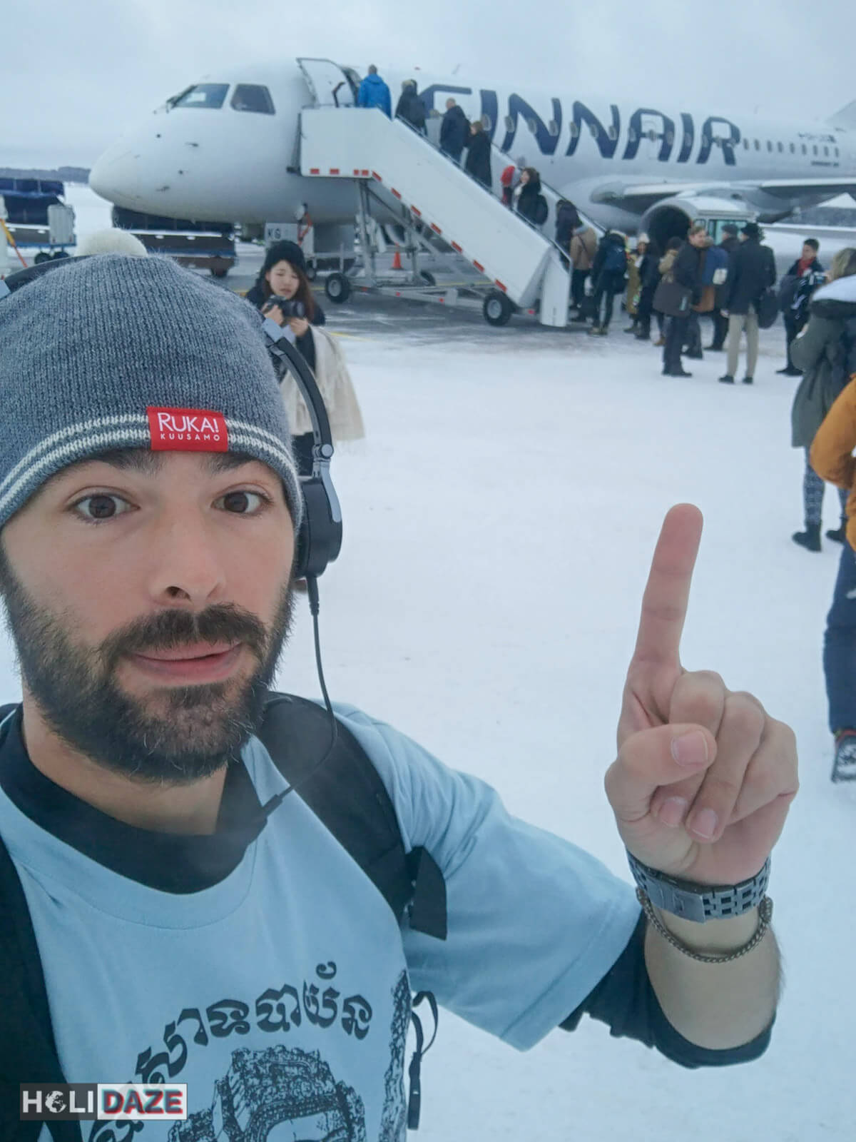 Flying Finnair around Lapland in Northern Finland -- best airlines ever!