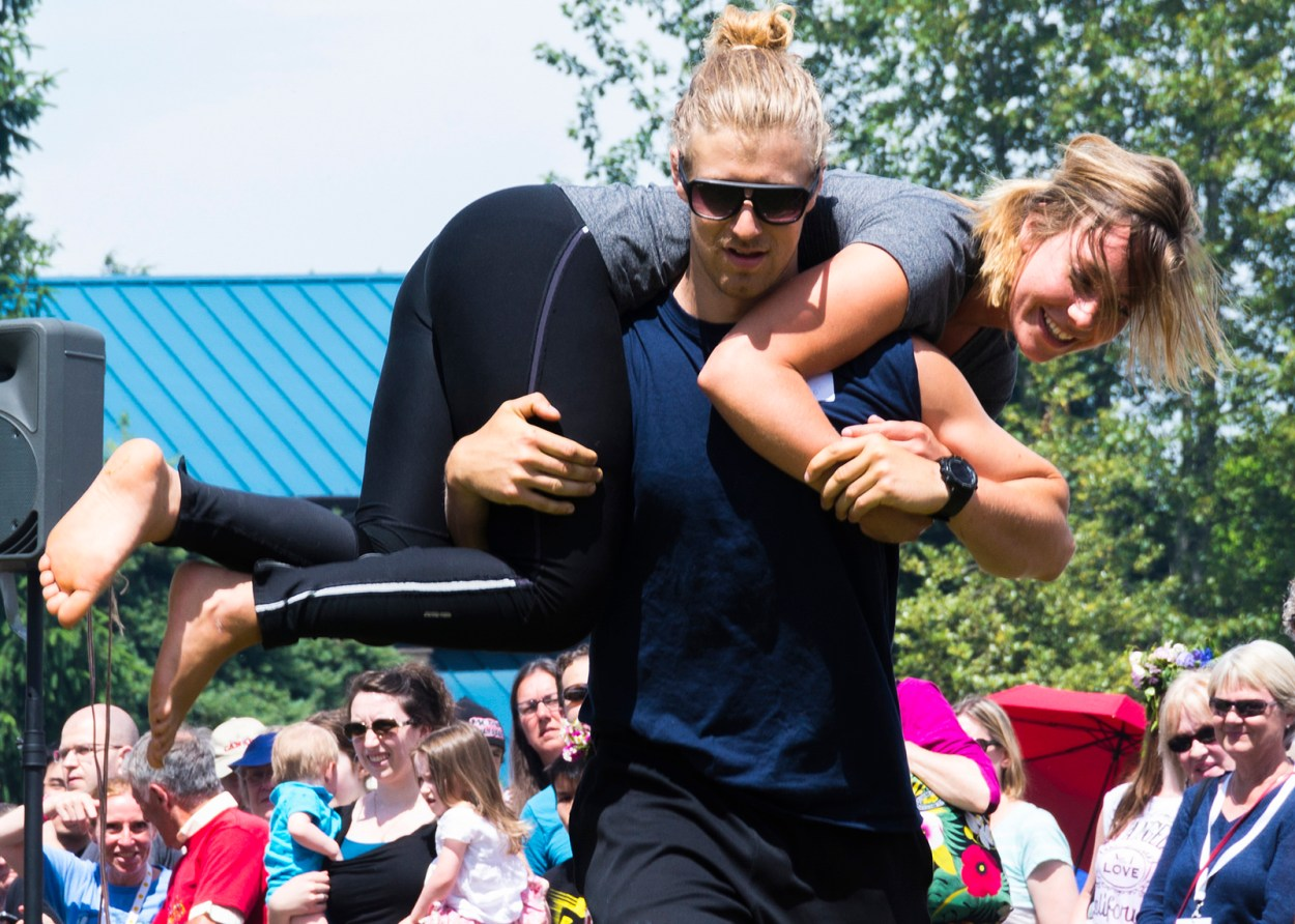 The Wife Carrying World Championships in Finland