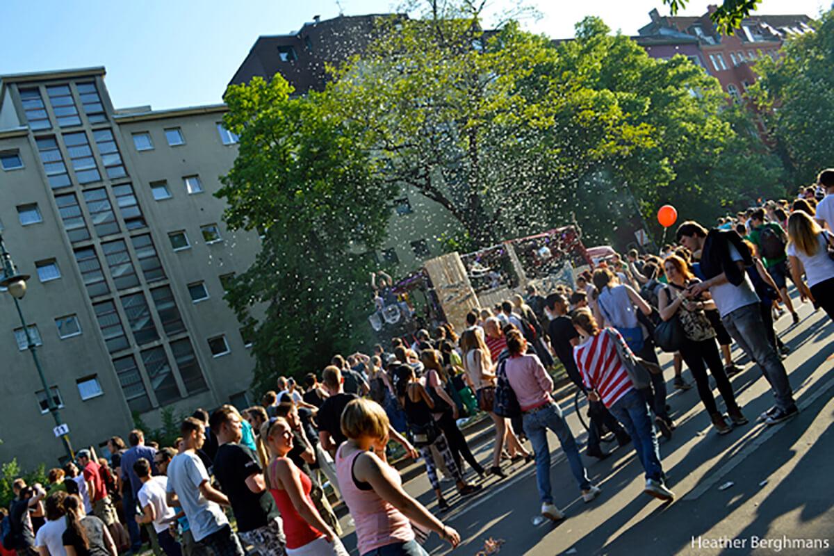 Carnival craziness in weird Berlin, Germany