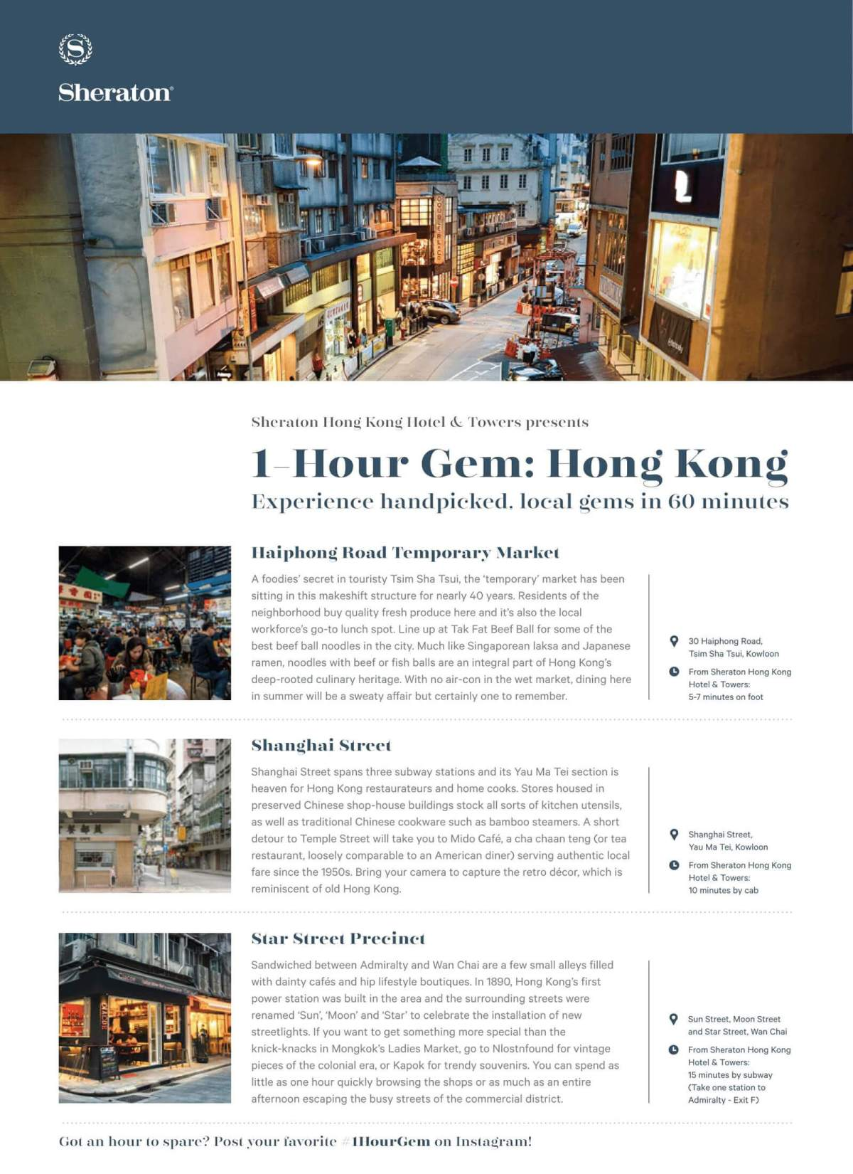 Hong Kong One Hour Gems by Sheraton Towers