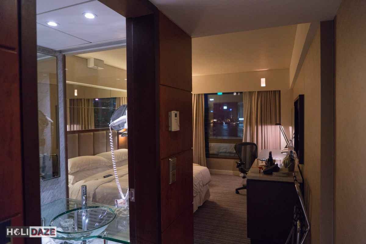 My room at the Sheraton Towers in Hong Kong