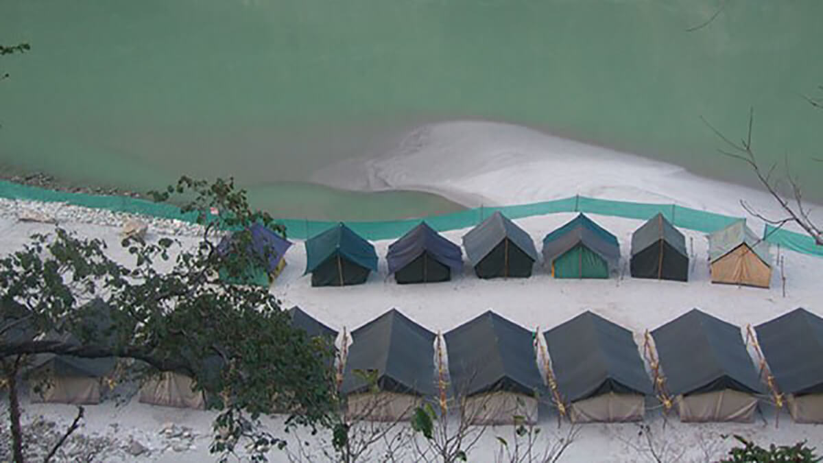 Camping in Rishikesh, one of the top places in India for camping