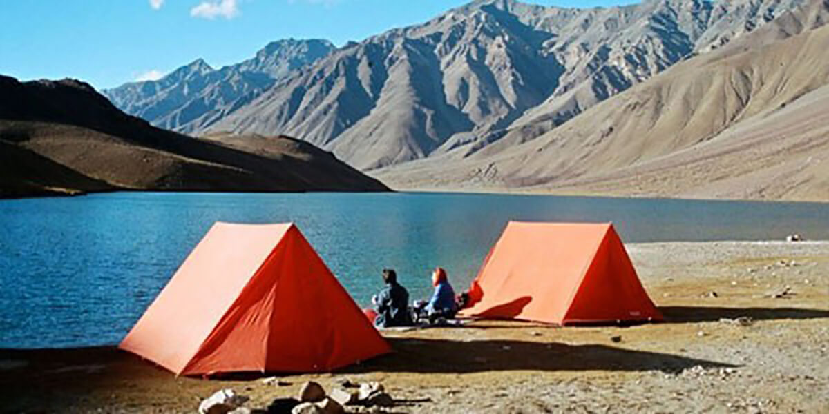 Camping in Chandertal Lake, one of the best places for camping in India