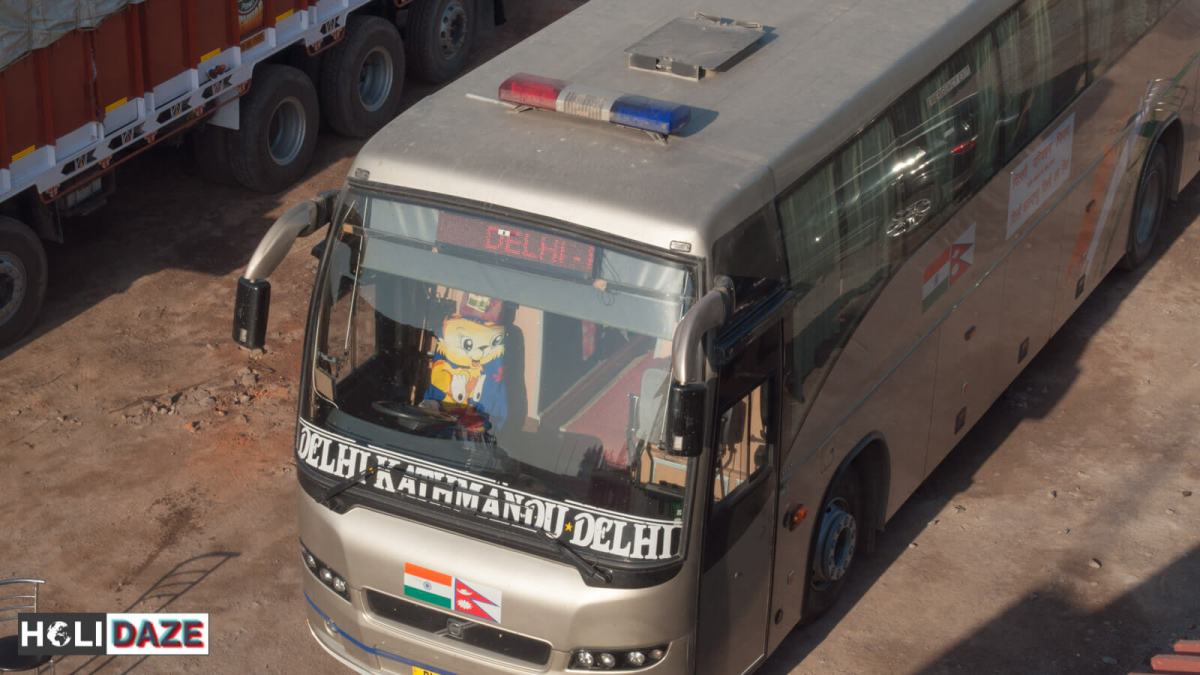 The Delhi Kathmandu Delhi express DTC Mercedes bus....if you're not flying, this is the only way to go!