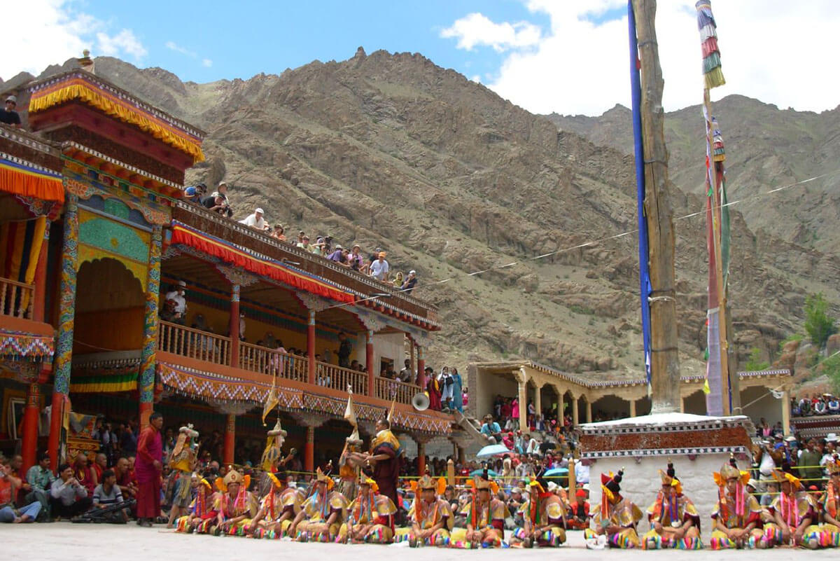 Hemis monastery during their famous and colorful festival, one of the incredible unique and offbeat India destinations