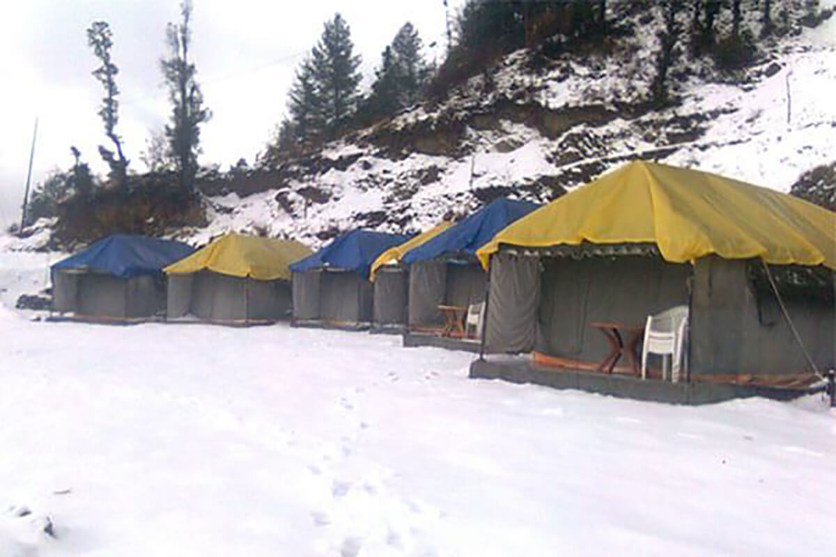 Camping in Mussoorie, one of the top places in India for camping