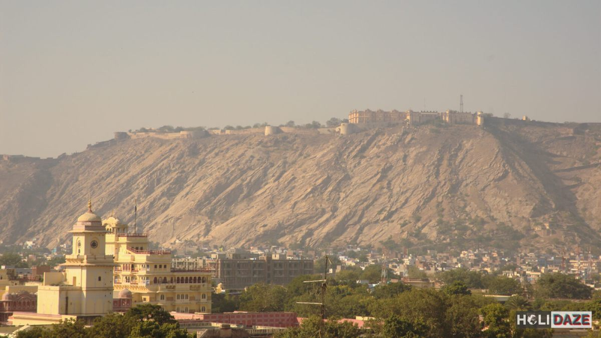 Nahargarh is the fort on the hilltop overlooking Jaipur, India