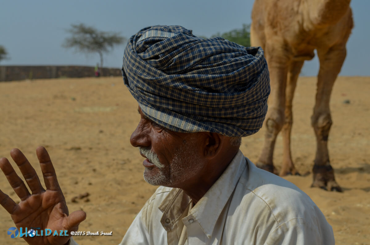 Camel herder at the Pushkar Camel Fair 2015