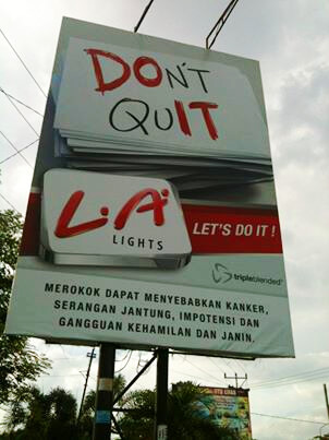 Cigarette ads are everywhere in Indonesia