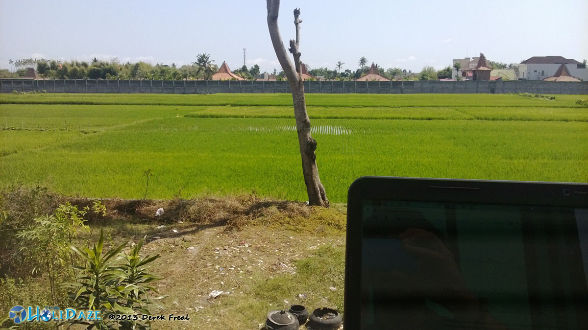 Relax while traveling by getting an office with a view
