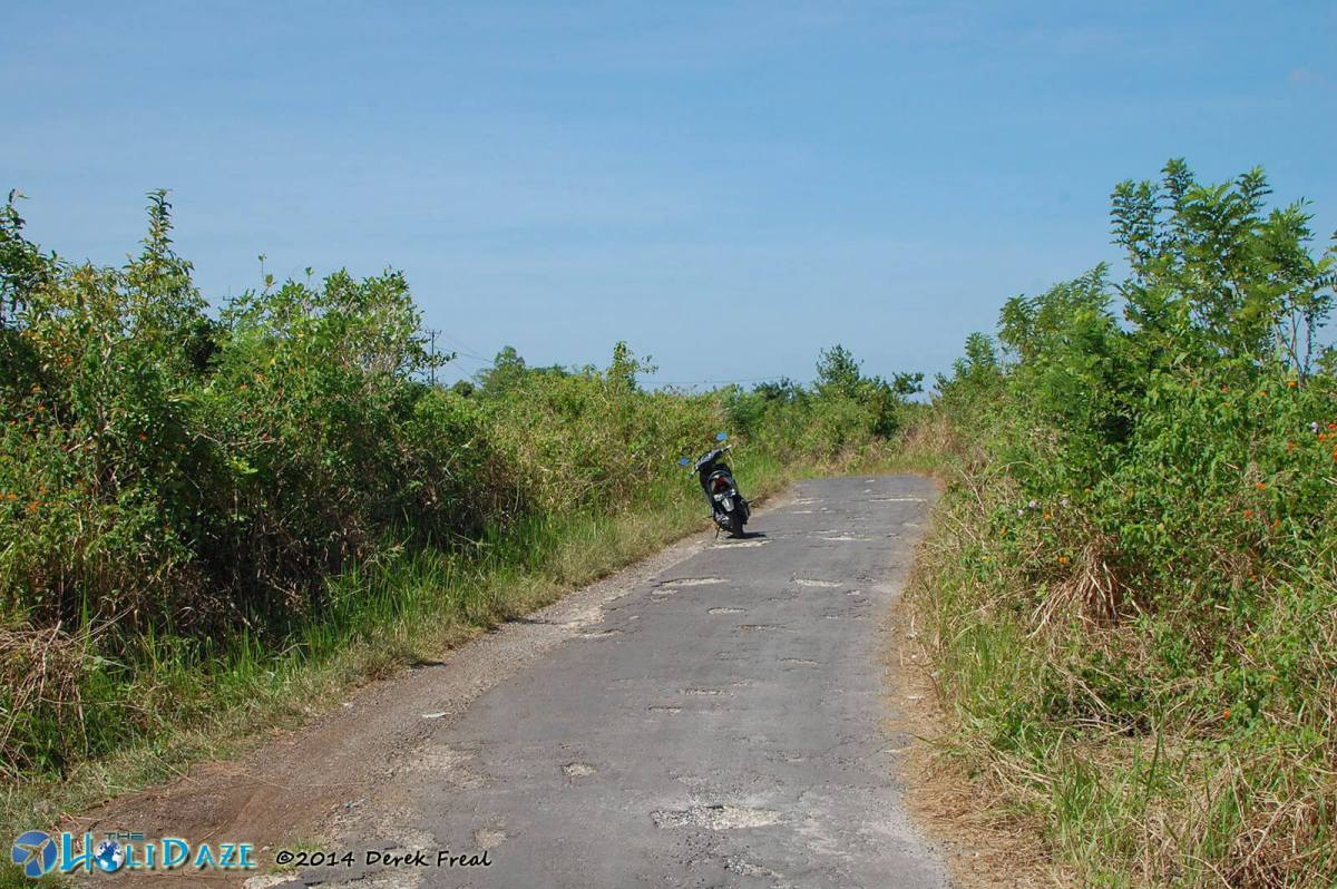 The island mountain roads of Nusa Penida, Indonesia, are not in the best of conditions