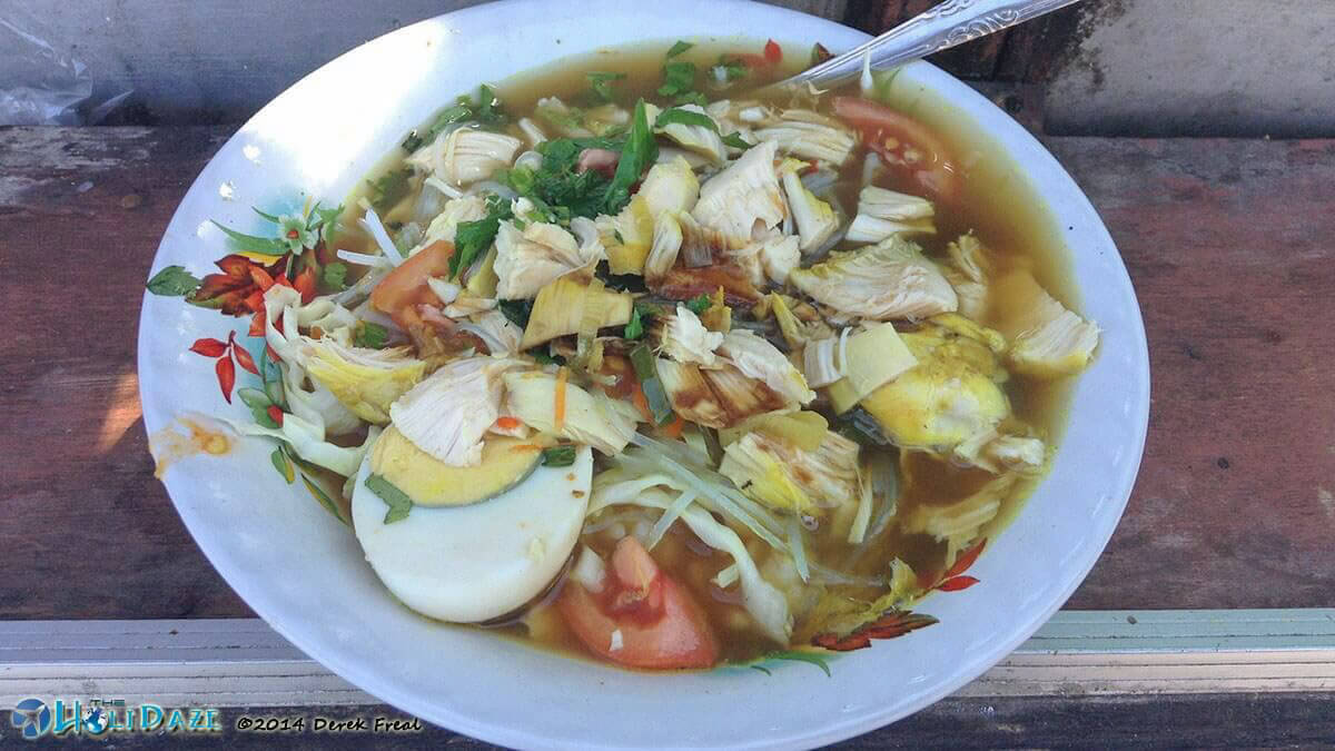 This is your basic Soto Ayam. Soto varies greatly throughout the different cities and regions of Indonesia. It's never the same twice. Same same but different.