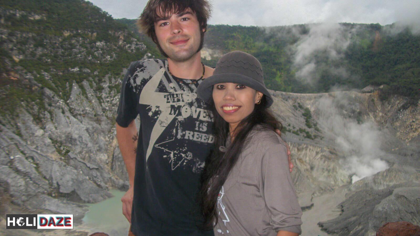 Dessy & I at Tangkuban Perahu