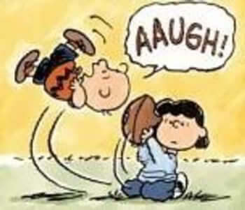 The Classic Charlie Brown Football Gag