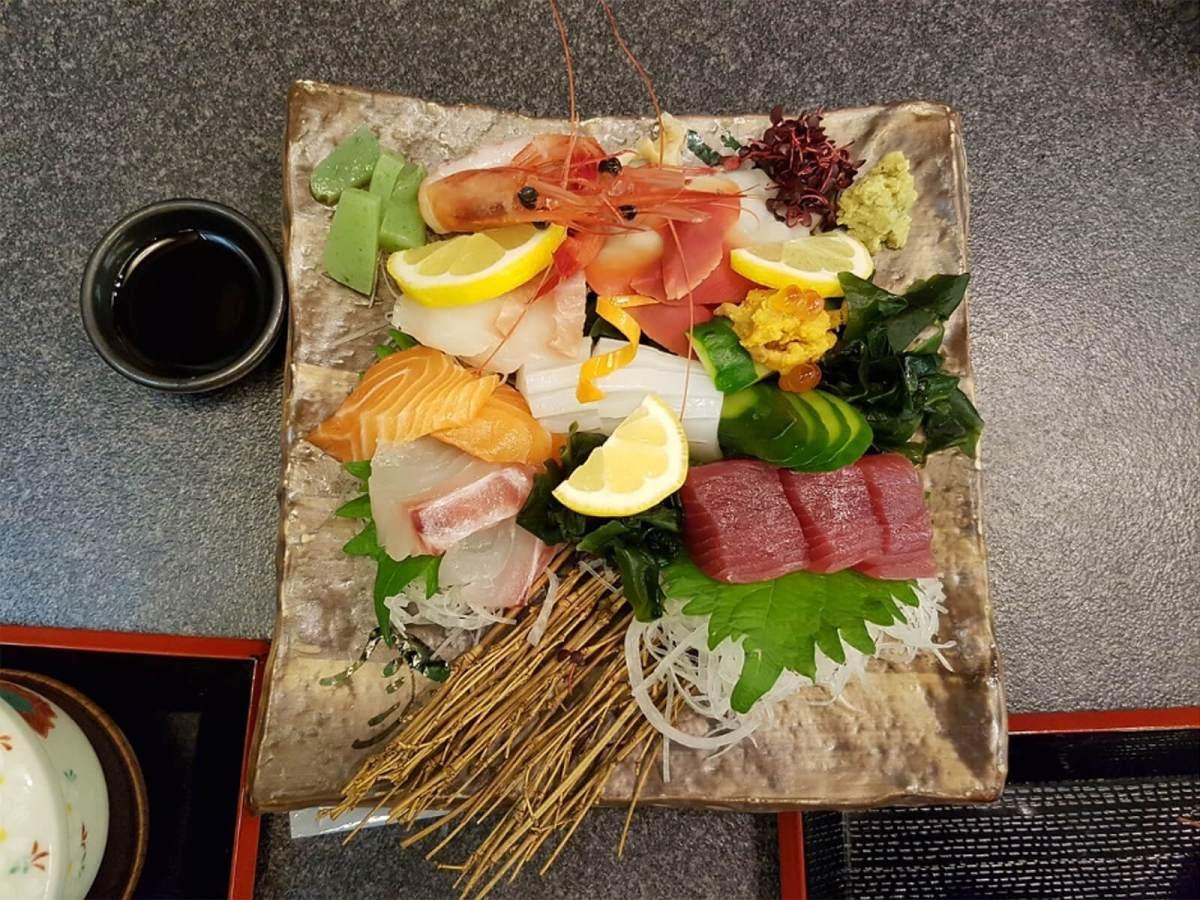 Sashimi in Osaka, Japan