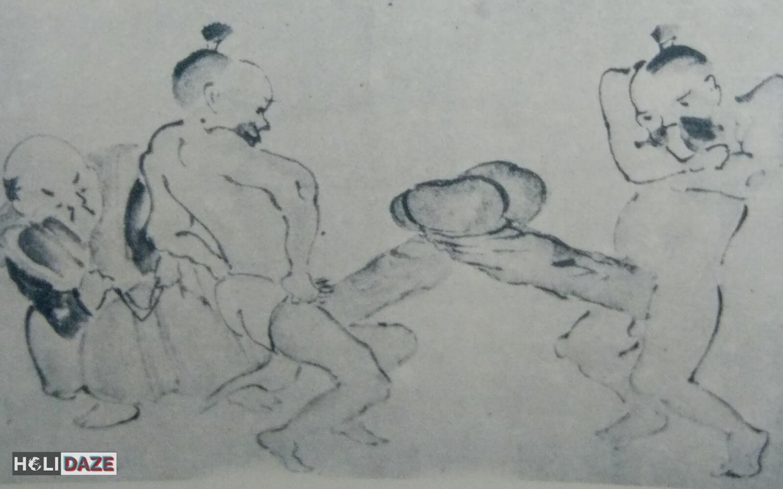 Mildly disturbing scene found at the Sex Museum in Gyongju, Korea